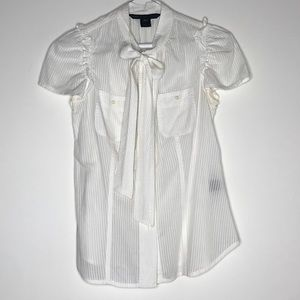 Marc Jacobs Botton Down Blouse with Bow